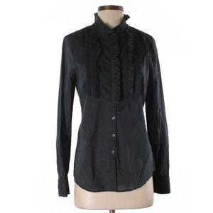 J CREW Women's 100% Cotton Tuxedo Bib Tuxedo Shirt